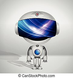 Robot with blue screen