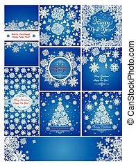Blue christmas greetings