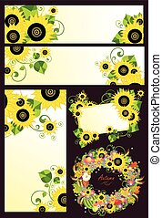 Design with sunflowers