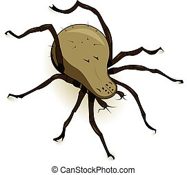Vector Dust Mite Parasite - Vector illustration of dust mite...