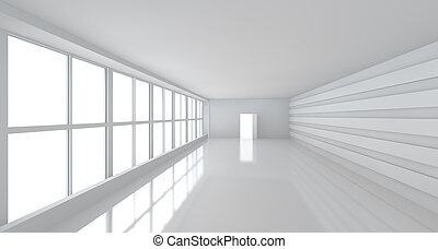 light white room with big window - big white business room...