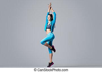 Attractive dancer girl