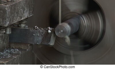 Working of the lathe in the workshop 2 - The process of...