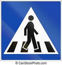 Norwegian regulatory road sign - .