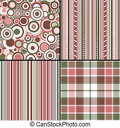 Set pastel seamless patterns vector, EPS 10 - Collection...