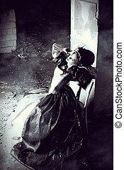 royal fashion - Art Fashion Beautiful young woman in elegant...
