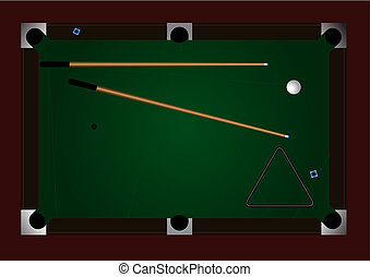 Pool table - Editable vector pool table background with...