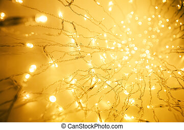 Lights Garland, Abstract Blurred Led Light, Yellow Lighting...