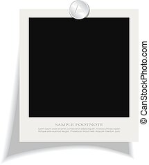 Blank instant photo frame with footnote