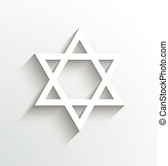 Star of David, Judaism celebration Icon design