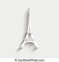 Eiffel Tower Logo vector.