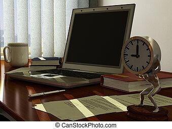 Morning Desk - A working desk setup in computer