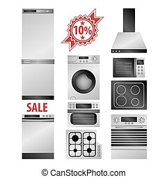 Kitchen household appliances set