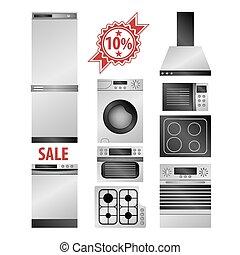 Kitchen household appliances set