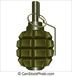 grenade - offensive fragmentation grenade with cotter and...