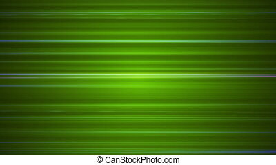 Broadcast Horizontal Hi-Tech Lines, Green, Abstract, Loopable, HD
