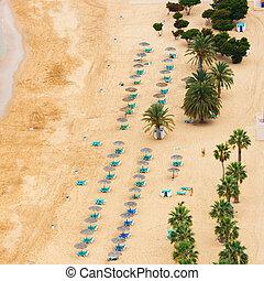 Famous beach Playa de las Teresitas