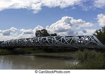 Hans Wilsdorf Bridge in Geneva, Switzerland - Pont...