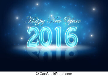 New Years Eve 2016 - Glossy holiday background for New Years...