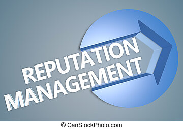 Reputation Management - text 3d render illustration concept...