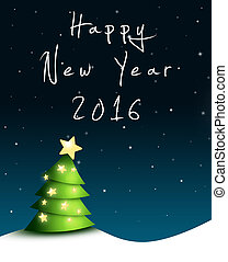Silvester greeting card 2016 - Nightly greeting card for New...