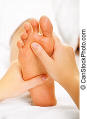 Foot massage and spa foot treatment