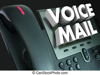 Voice Mail 3d Words Telephone Recorded Message