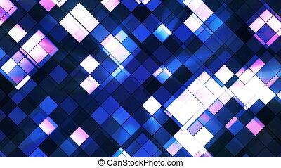 Broadcast Twinkling Squared Diamonds, Blue, Abstract, Loopable, HD