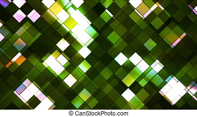Broadcast Twinkling Squared Diamonds, Green, Abstract, Loopable, HD