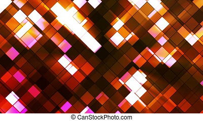 Broadcast Twinkling Squared Diamonds, Orange, Abstract, Loopable, HD