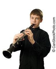 clarinete, jogador