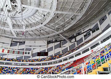 Ice stadium - Ice palace of sports on Hodynskoe Pole Moscow...
