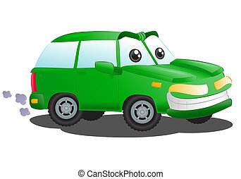 luxury green suv car - illustration of a luxury green suv...