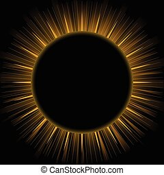 Eclipse - Illustration of eclipse isolated on black...