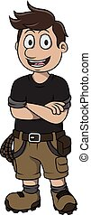 Rock climber cartoon design