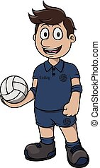 Volley ball cartoon illustration
