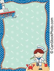 background fishing boat and sea - The cover image pattern...