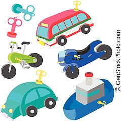 wind up vehicle vector