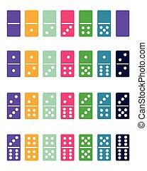 colorful domino - Full set of colorful domino, vector...
