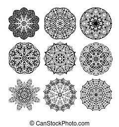 Mandala seamless pattern. Floral ethnic abstract decorative...