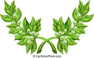 Olive Branch Wreath - An illustration of olive branches, the...
