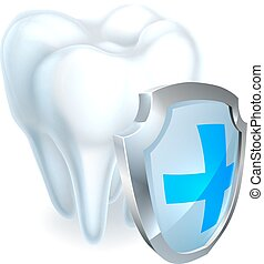 Tooth Shield Concept - A tooth shield concept of a shiny...