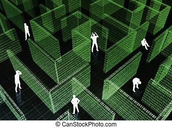 Got stuck in IT Maze - People got stuck in Information...