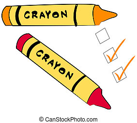to do check boxes with crayons