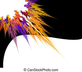 Colorful splash over black and white background with copy space