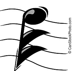 musical note on staff