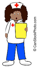 nurse with clipboard and surprised expression - bad news
