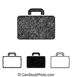 Briefcase icon set - sketch line art - Briefcase icon design...