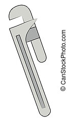 metal adjustable pipe wrench