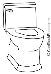 white toilet with the seat left open